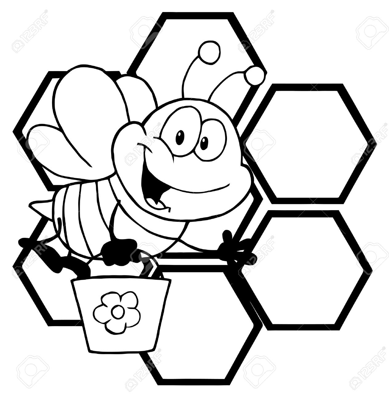 Honey Bee Drawing Clip Art At Getdrawings