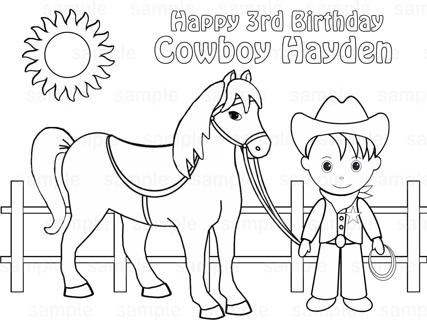 Horse And Cowboy Drawing At Getdrawings