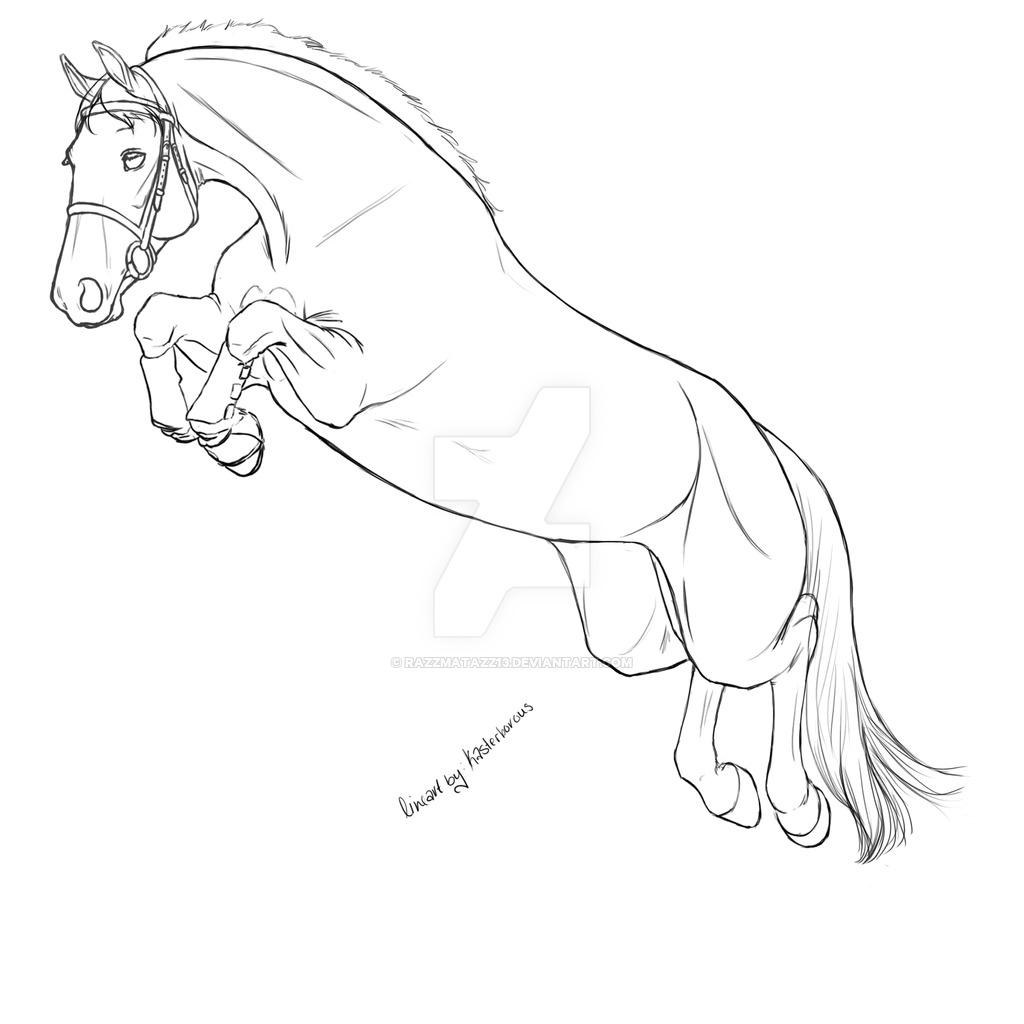 Horse Jumping Drawing At Getdrawings