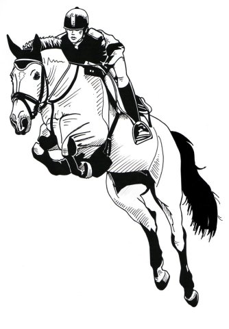 Horse Jumping Drawing at GetDrawings com   Free for personal use     746x1072 Jumping Horse by Harlekin1979 on DeviantArt