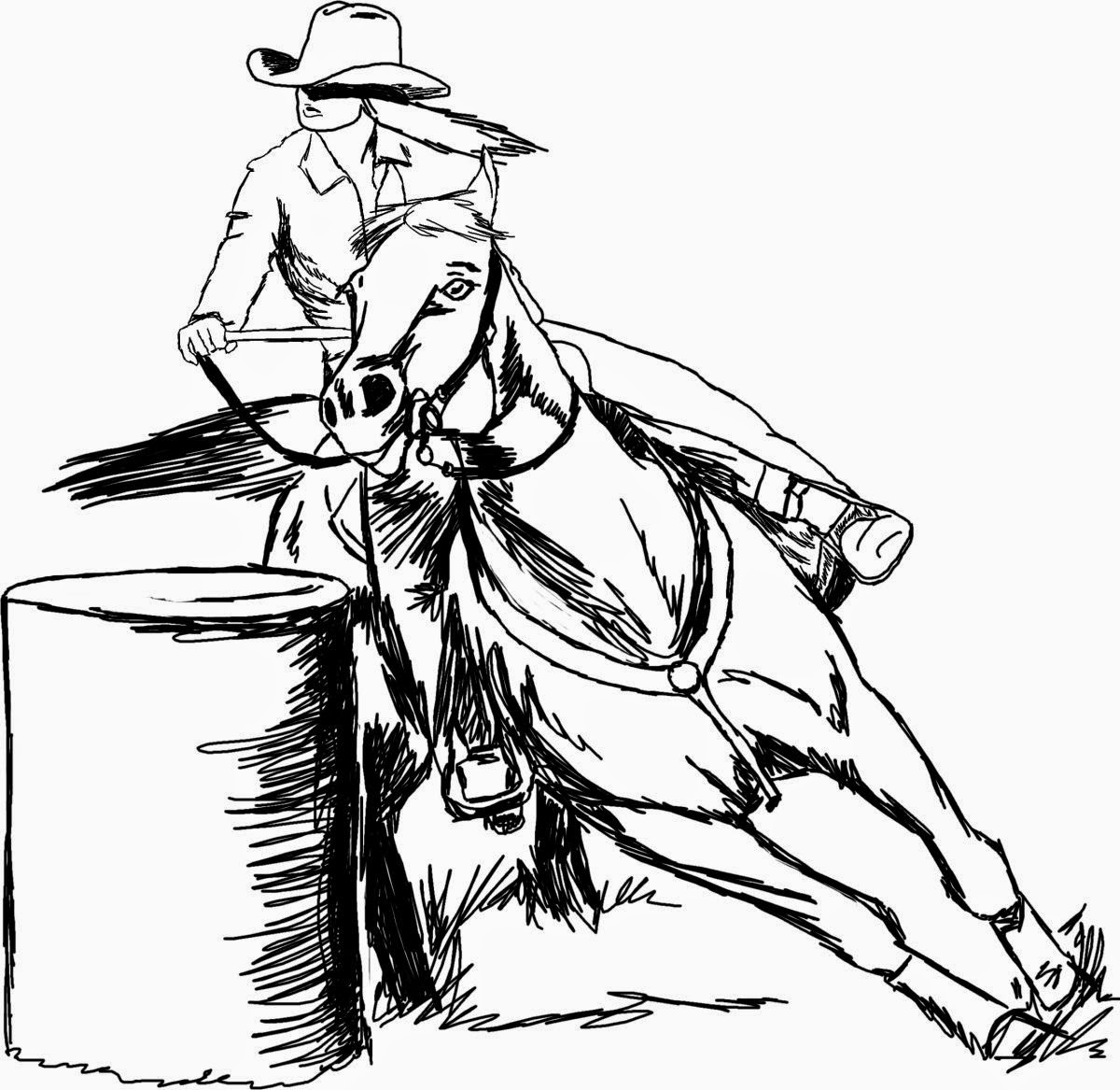 Barrel Racing Horses Clip Art