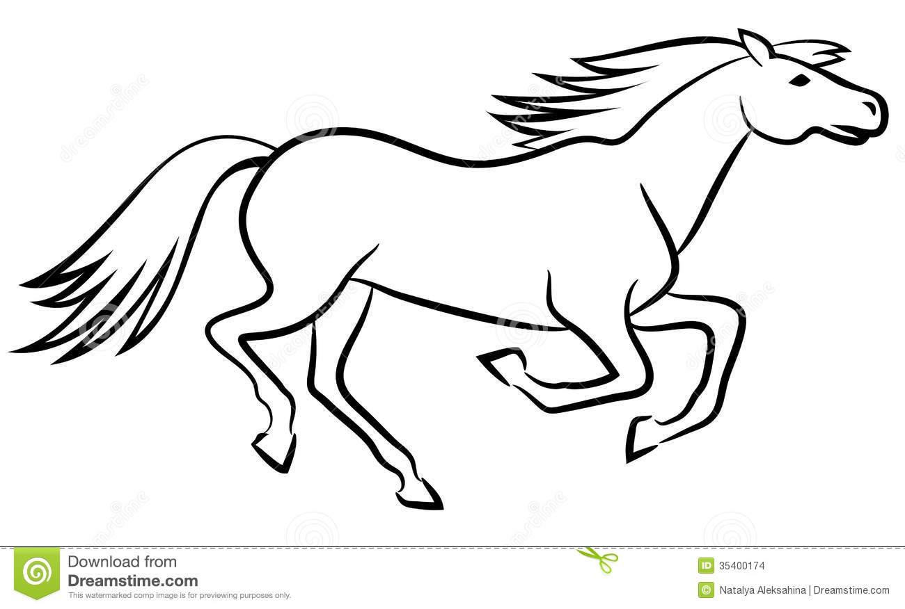 Horses Running Drawing At Getdrawings