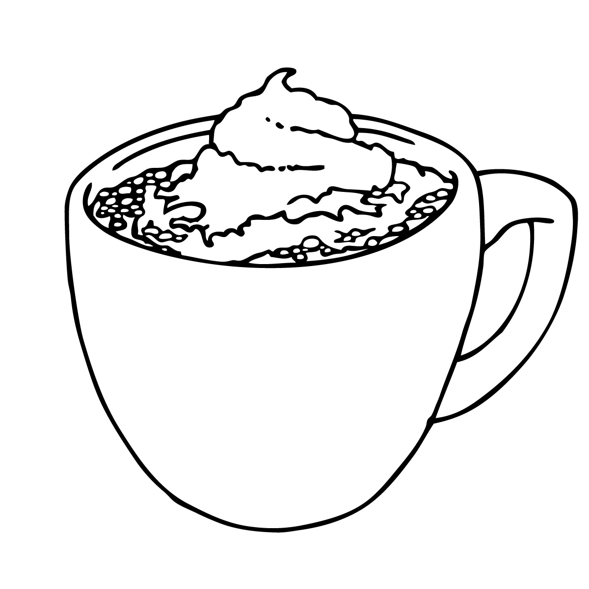 Hot Chocolate Drawing At Getdrawings