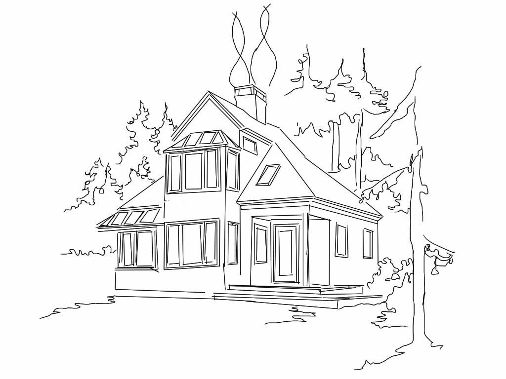 House Drawing At Getdrawings