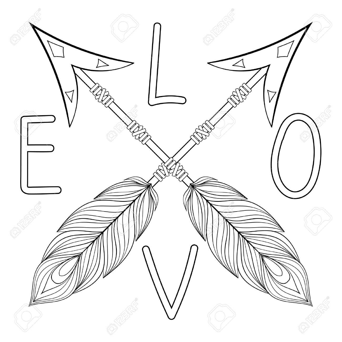 Indian Arrow Drawing At Getdrawings