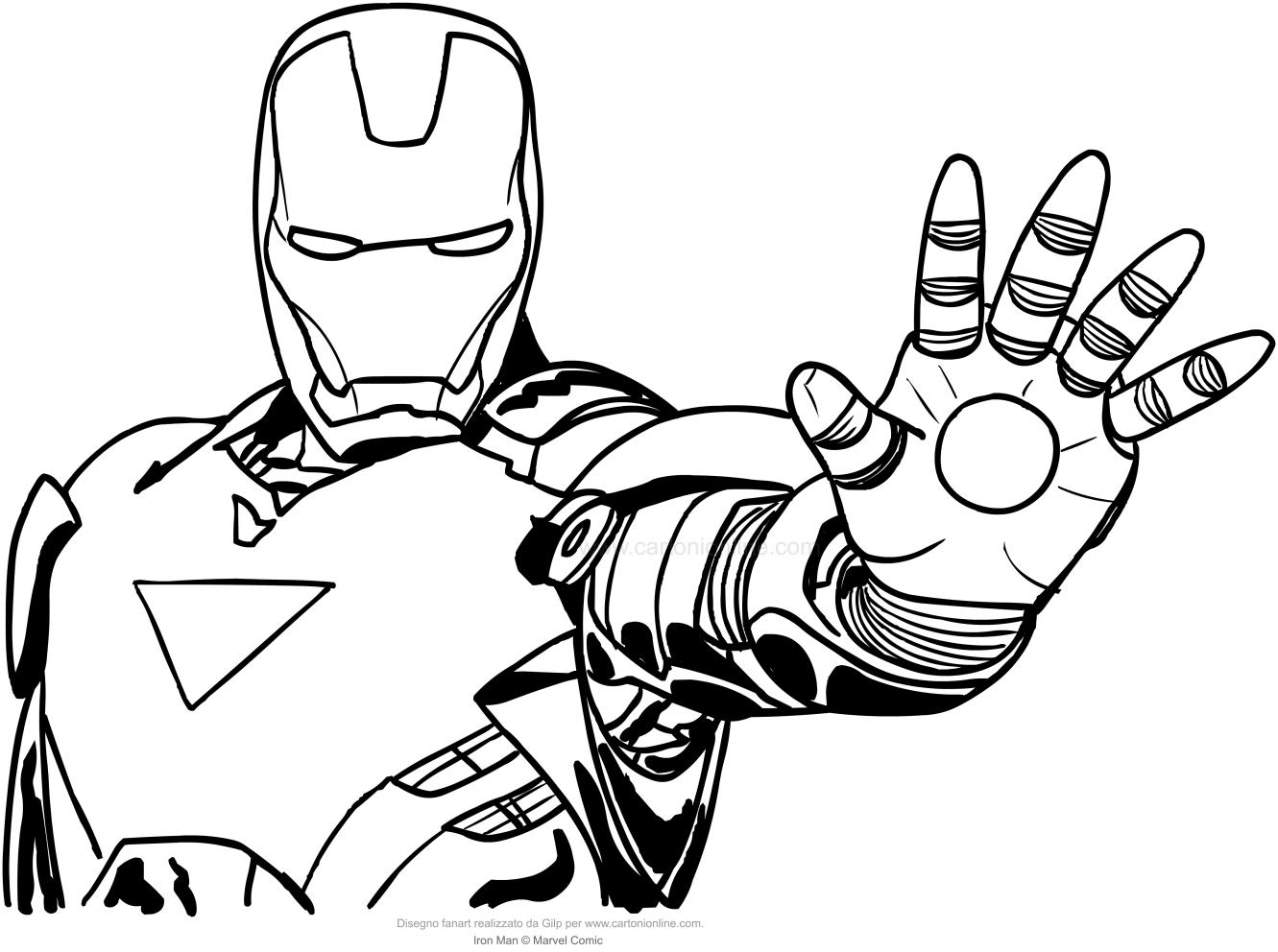 Iron Man Head Drawing At Getdrawings