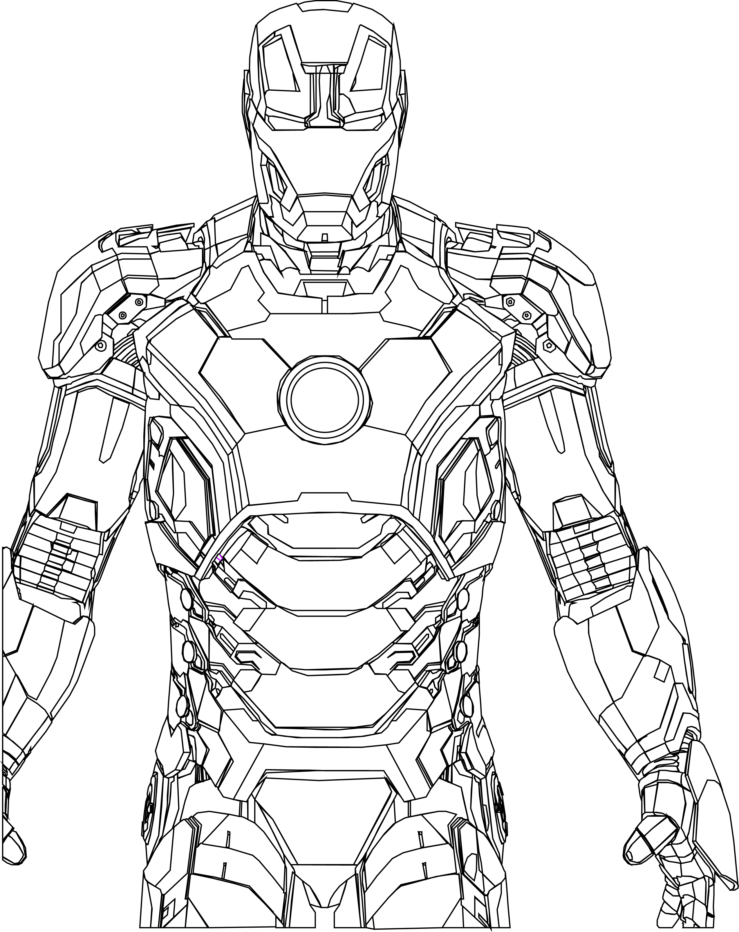Iron Man Line Drawing At Getdrawings