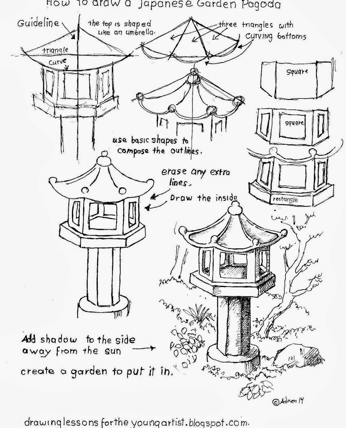 Japanese Pagoda Drawing At Getdrawings
