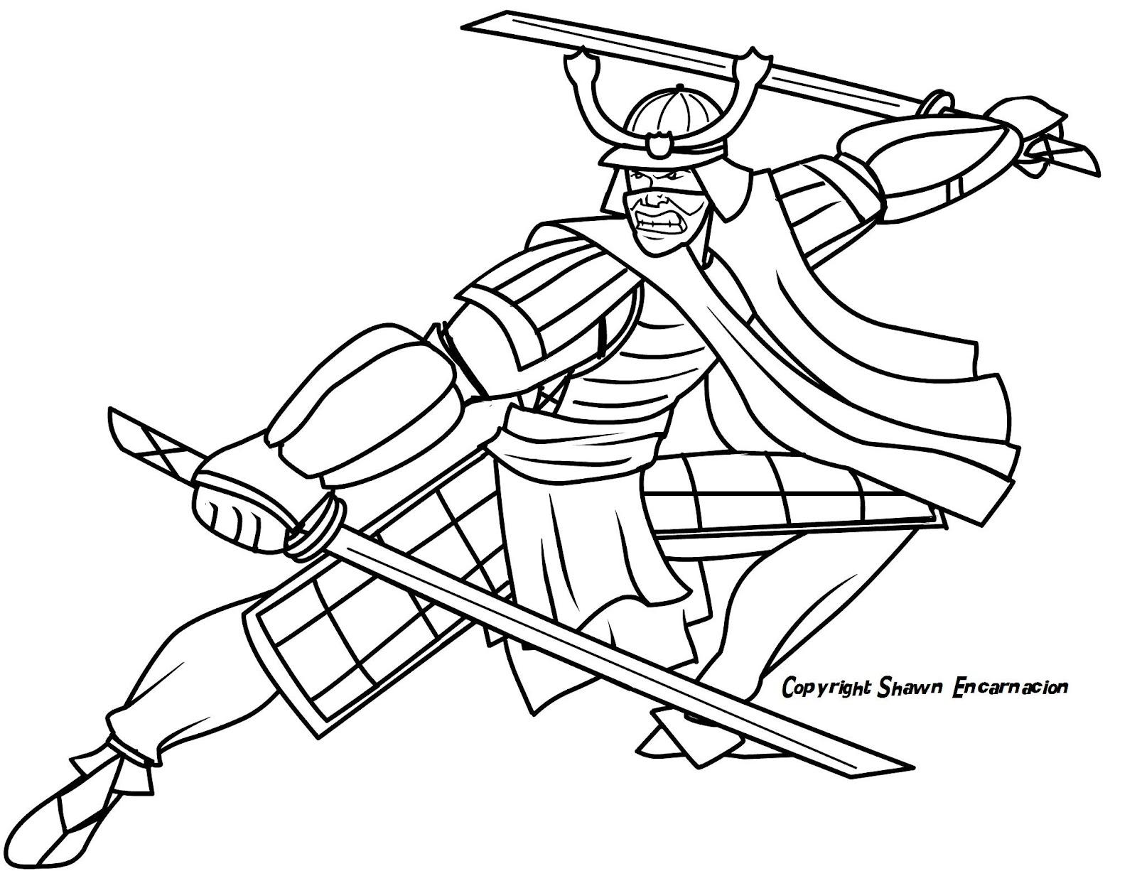 Samurai Helmet Drawing Easy
