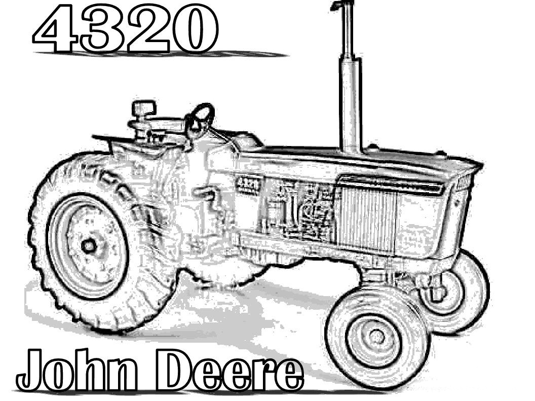 John Deere Tractor Drawing At Getdrawings