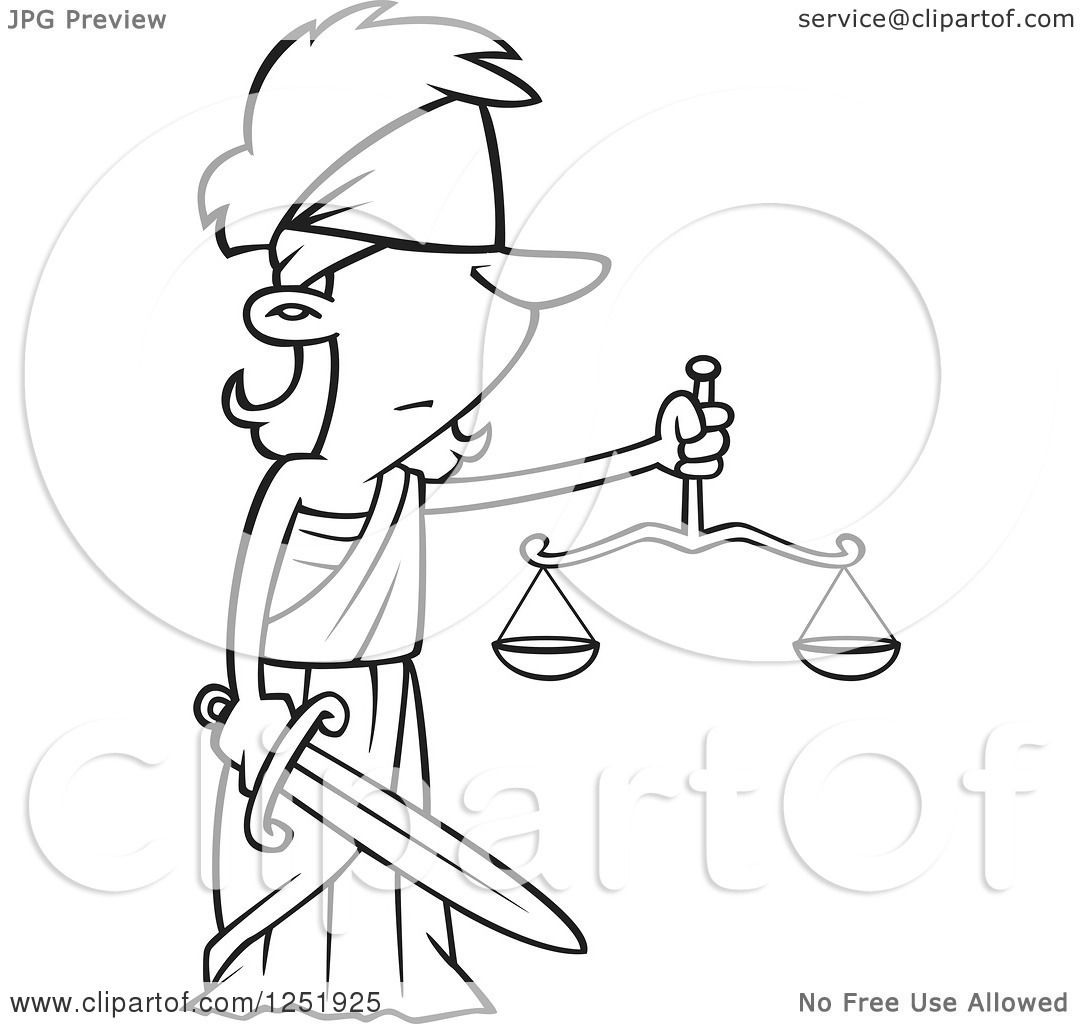 Justice Scale Drawing At Getdrawings