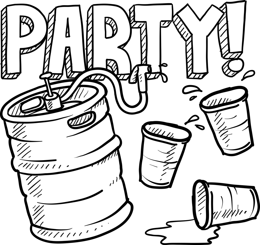 Image result for partying drawing