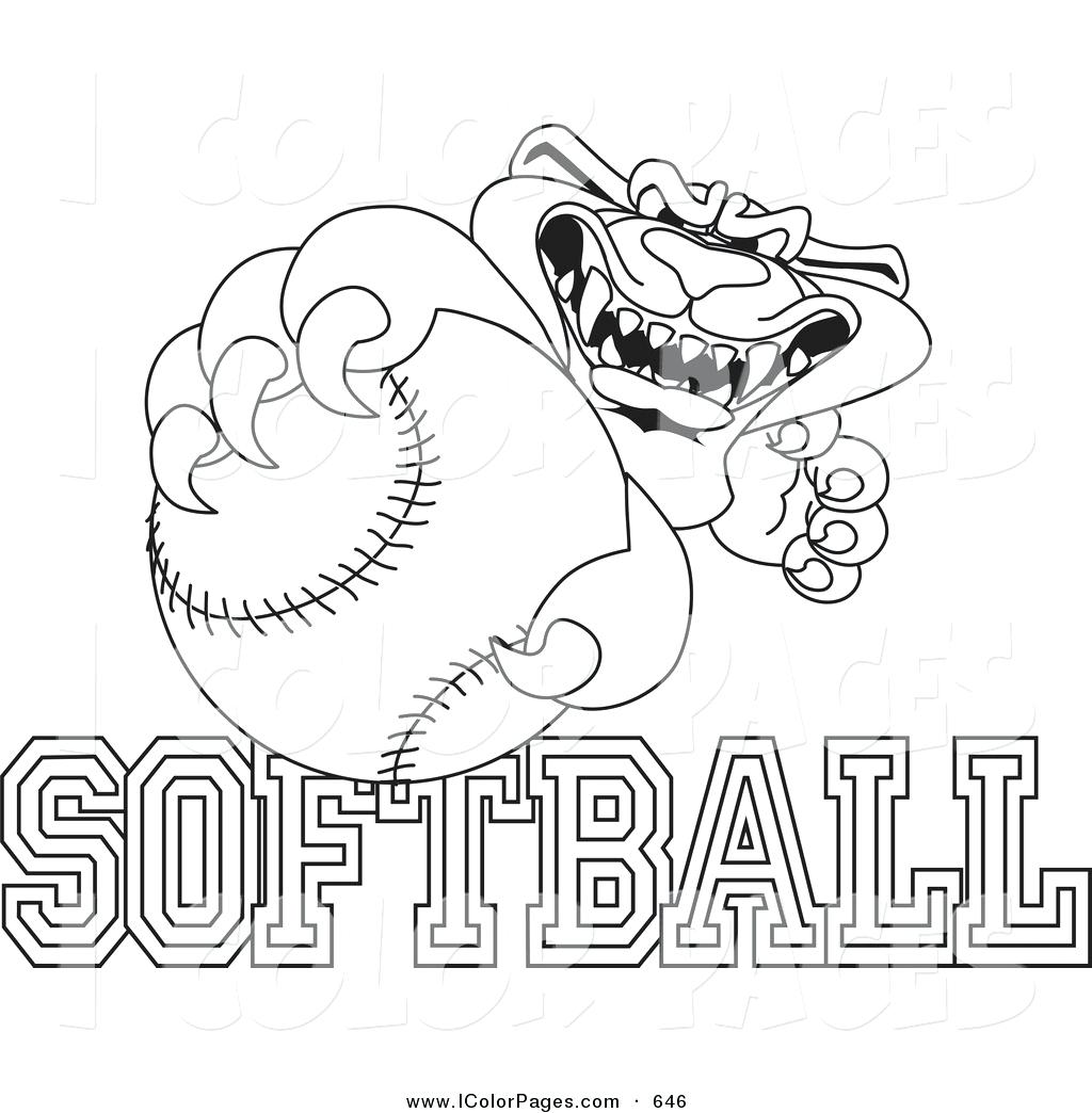 Girls Softball Svg