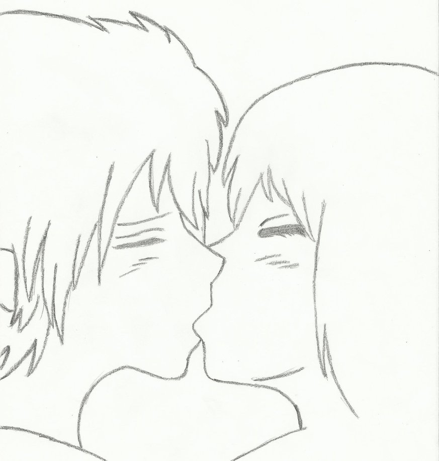 Kissing anime drawing at getdrawings com free for personal use