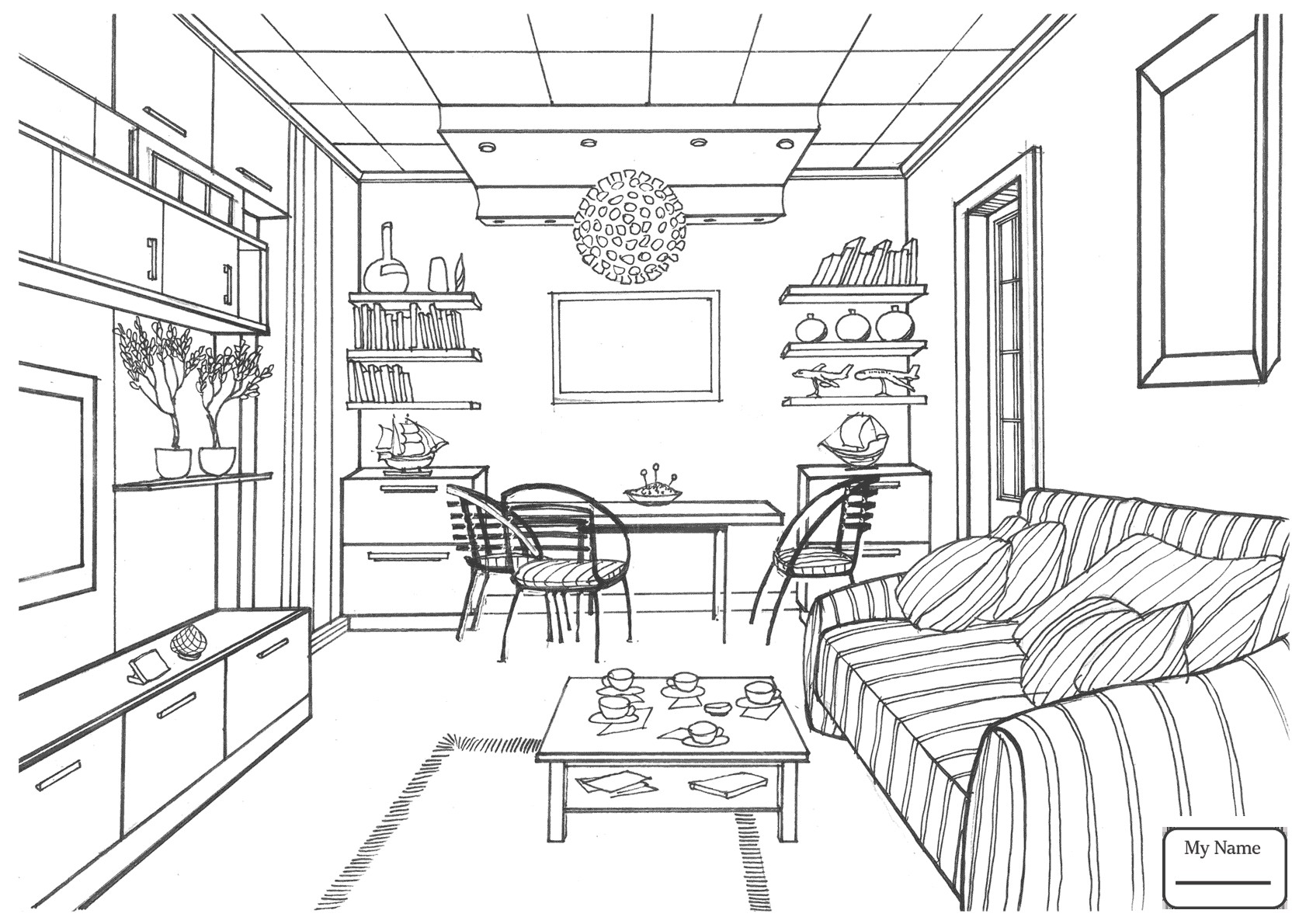 Kitchen Design Drawing At Getdrawings