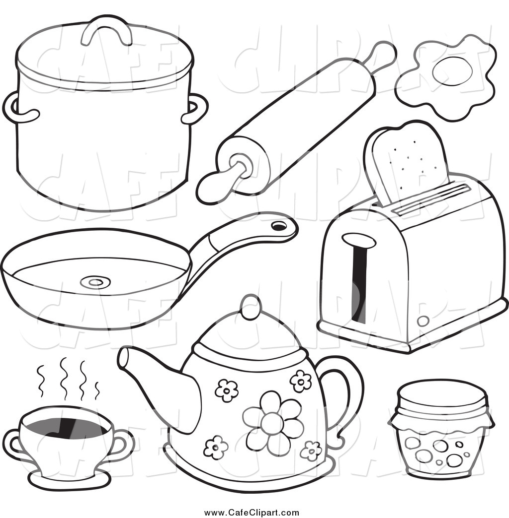 Kitchen Utensils Drawing At Getdrawings