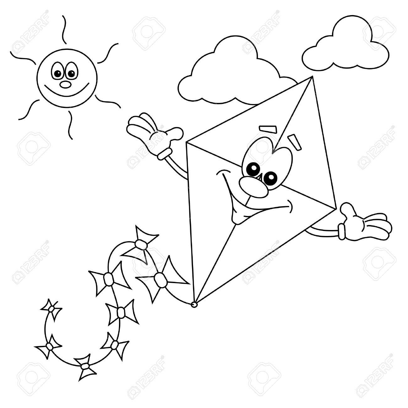 Kite Flying Drawing At Getdrawings