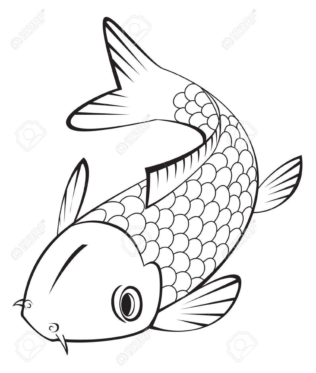 Koi Fish Outline Drawing At Getdrawings