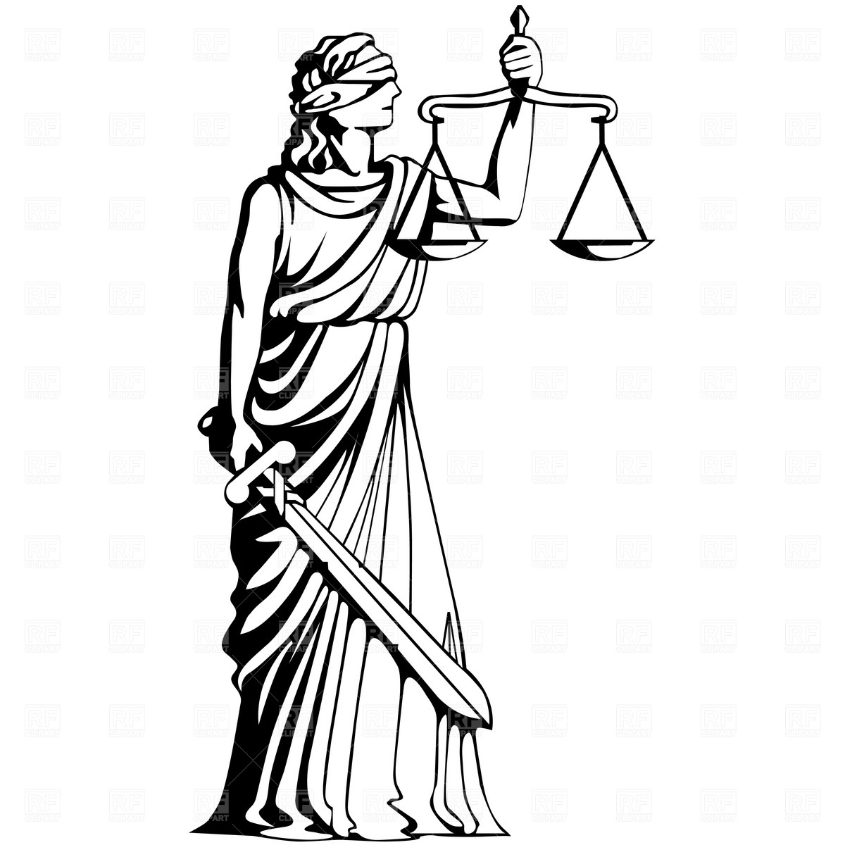 Lady Of Justice Drawing At Getdrawings