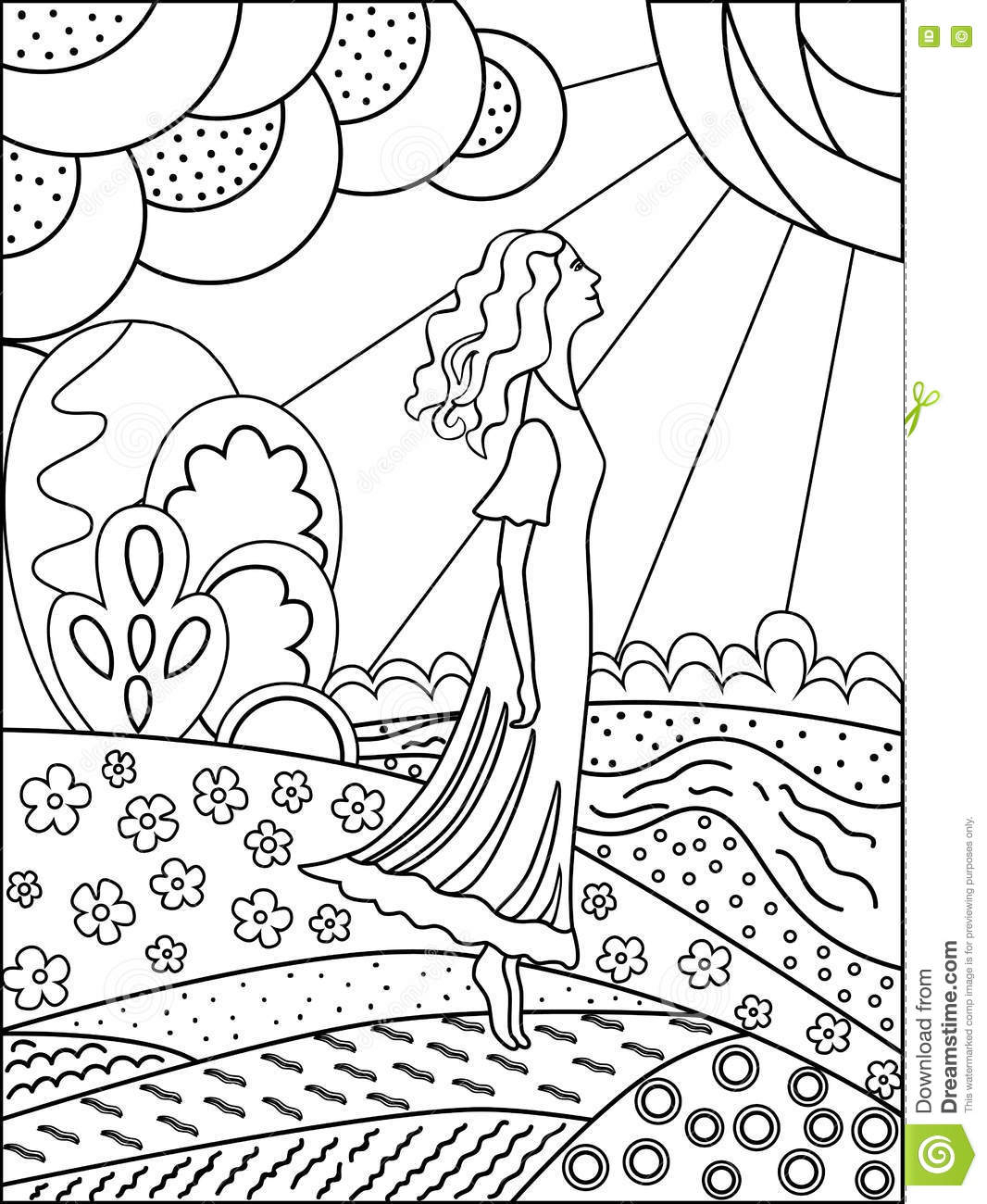 Landscape Outline Drawing At Getdrawings