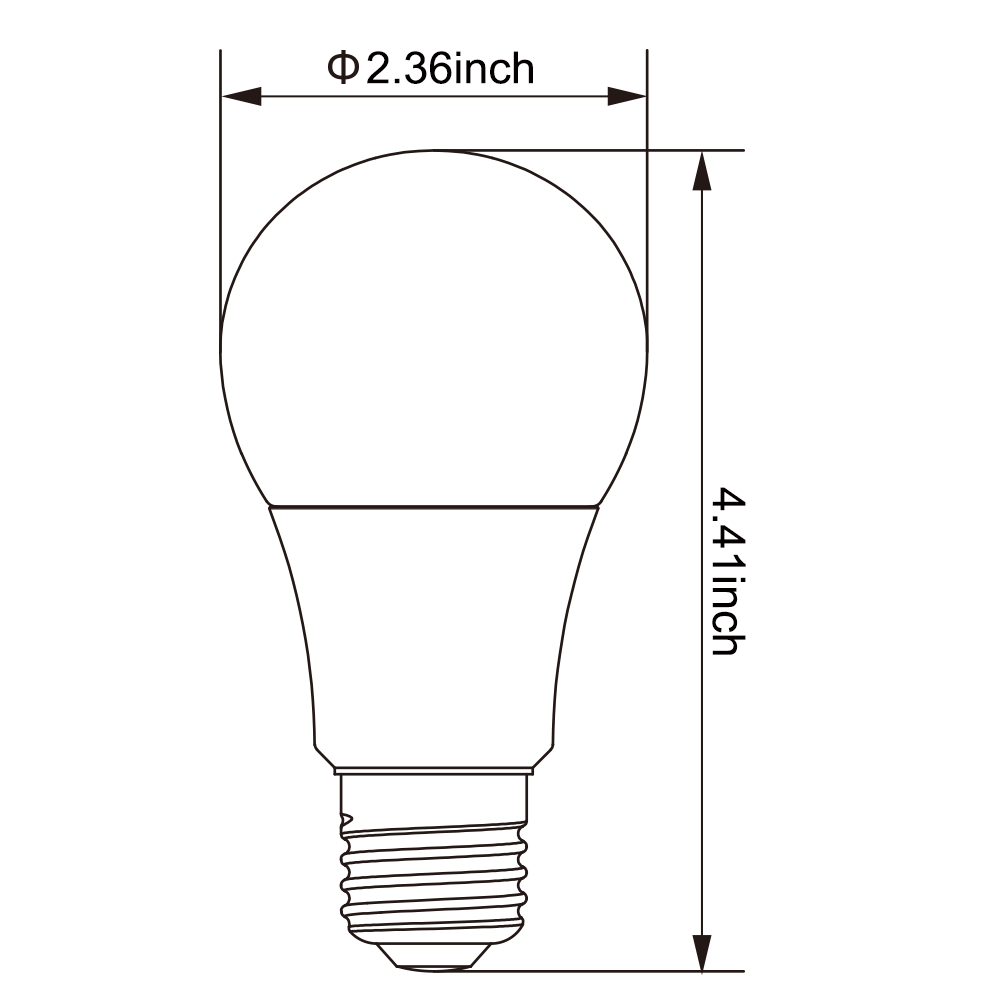 1000x1000 dimmable a19 led bulb