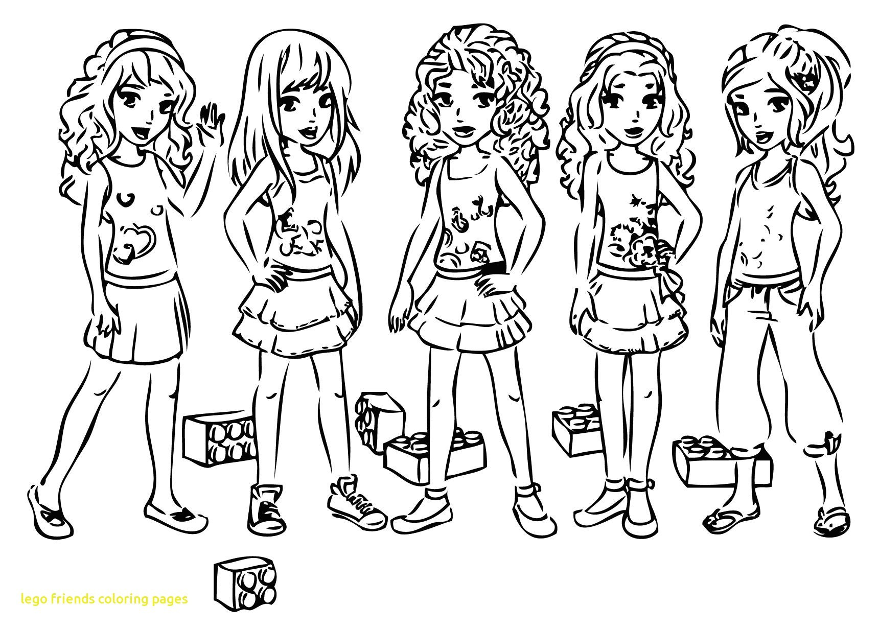 Lego Friends Drawing At Getdrawings