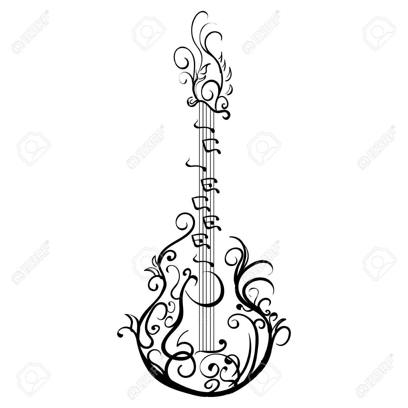 Les Paul Guitar Drawing At Getdrawings
