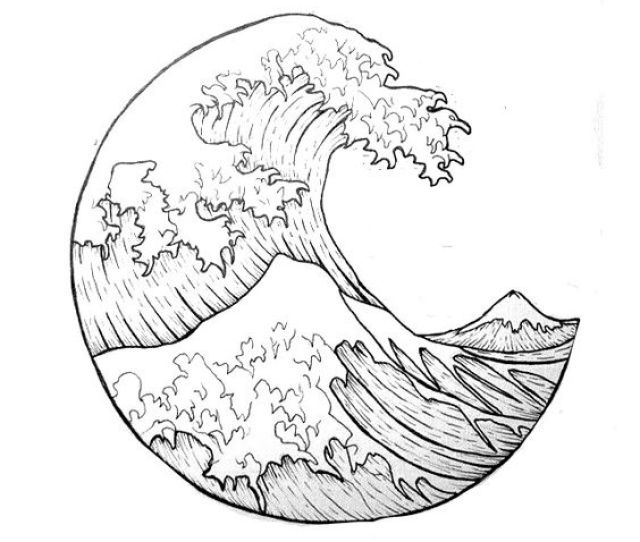 X The Great Wave Circle Tattoos Tattoo And Google