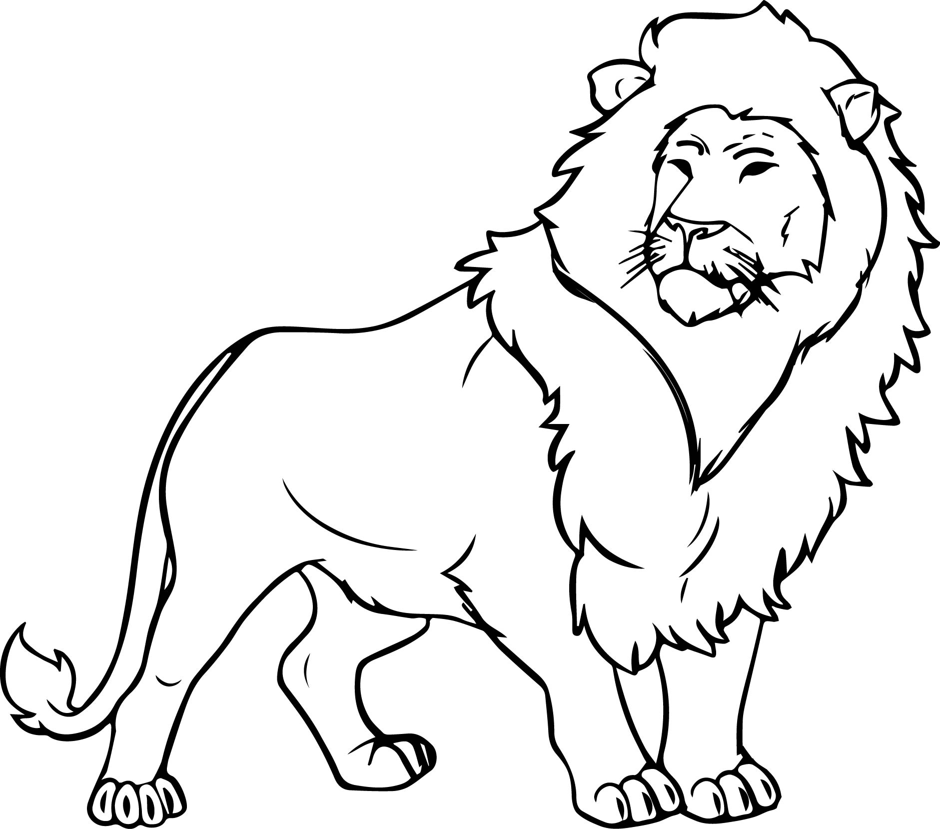 Lion Drawing For Kid At Getdrawings