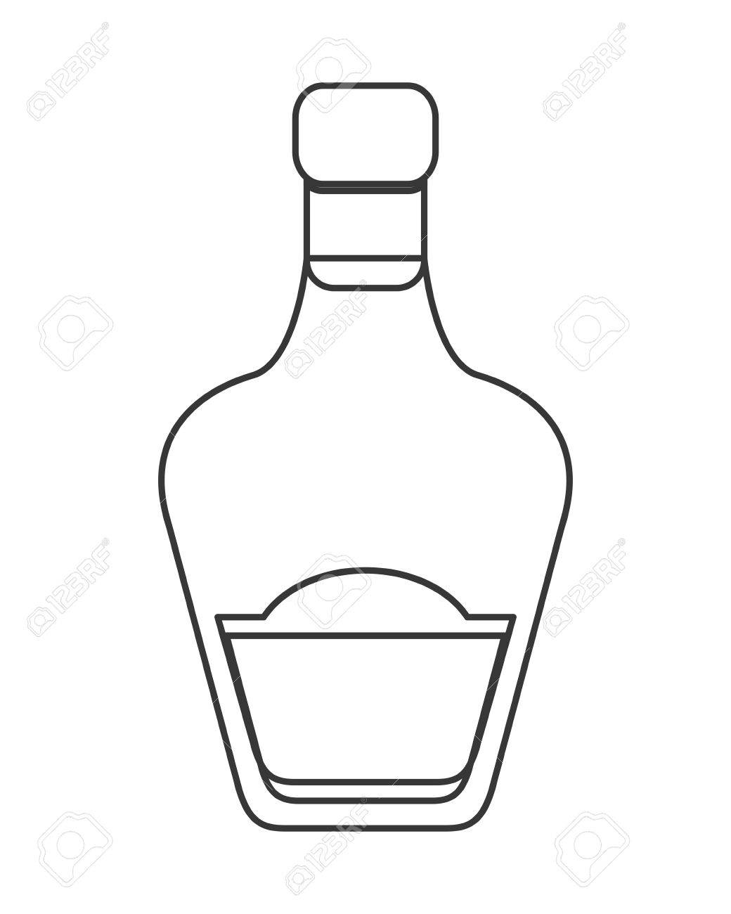 Liquor Bottle Drawing At Getdrawings