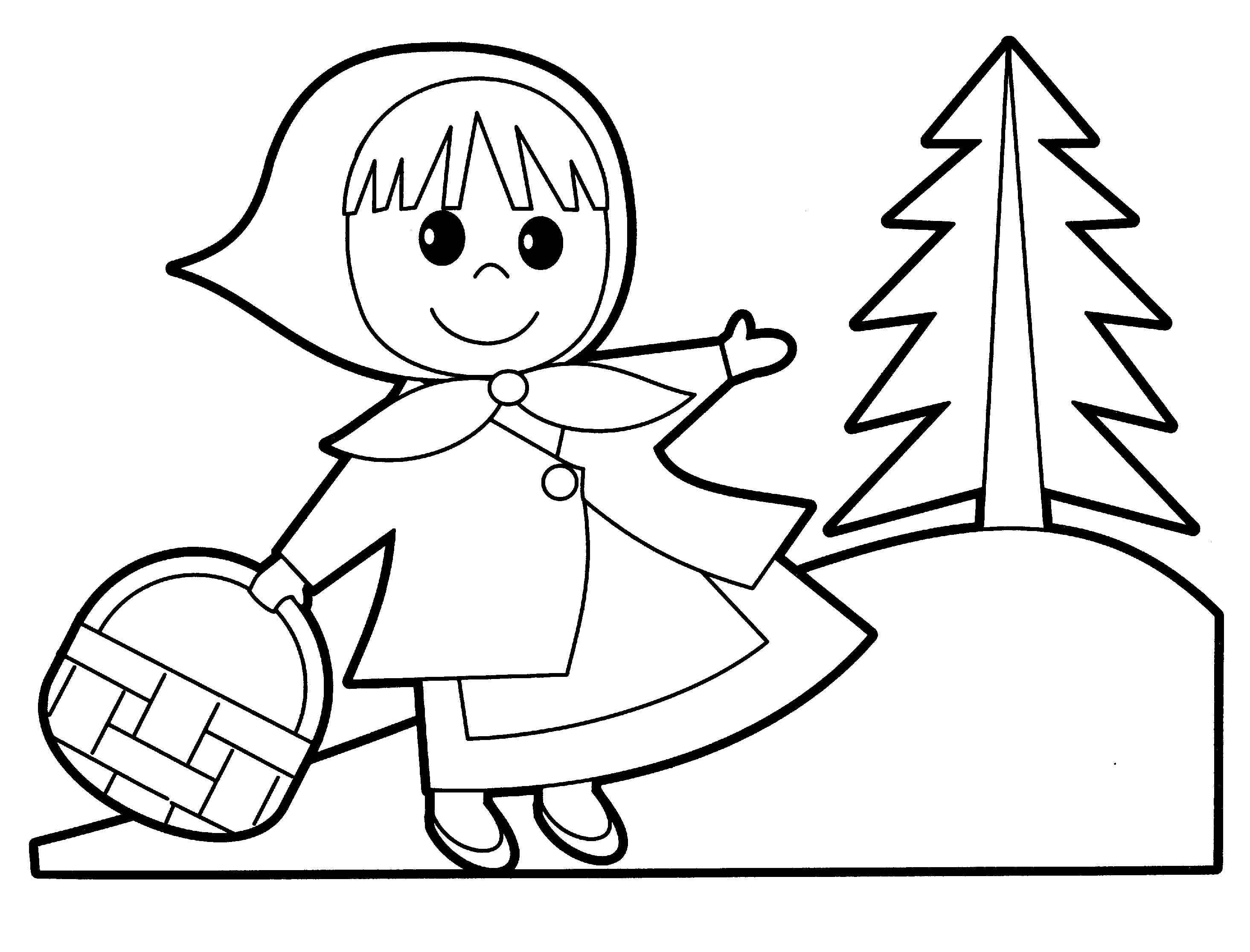 Little Red Riding Hood Drawing At Getdrawings