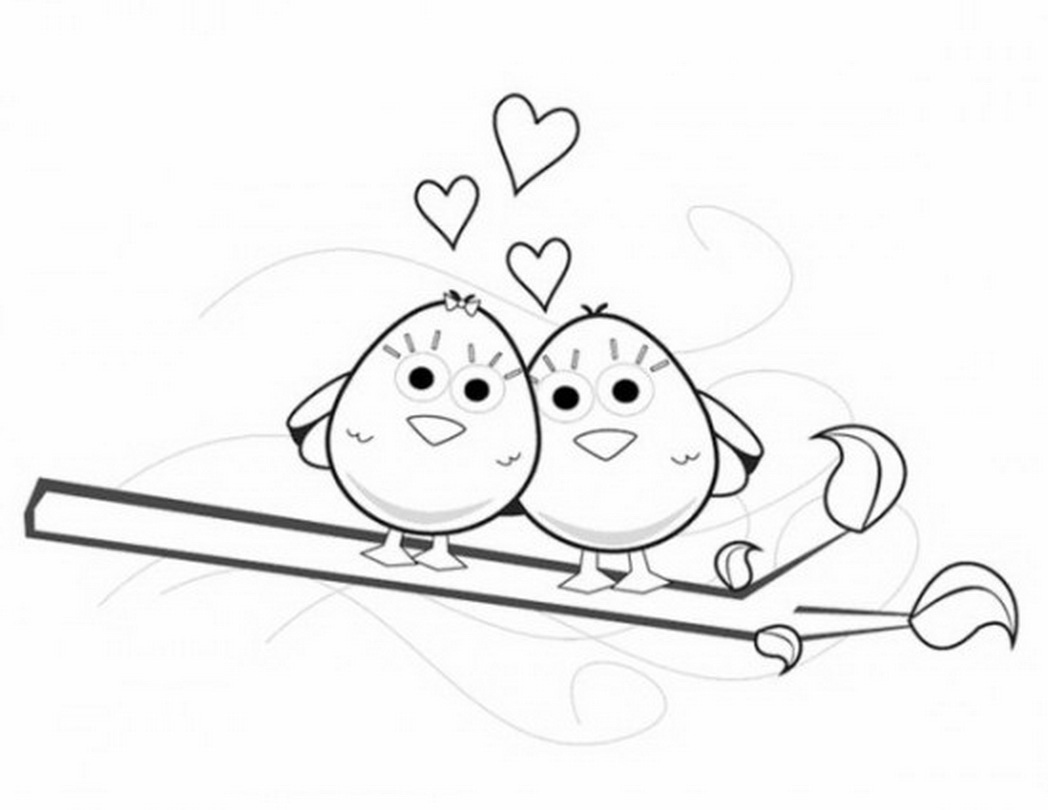 Love Birds Drawing Images At Getdrawings