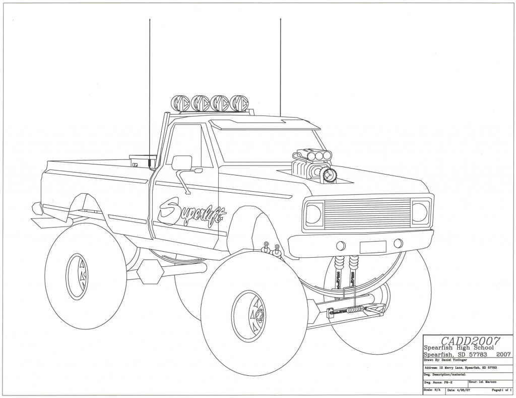 Lowrider truck drawing at getdrawings free for personal use papercraft pickup trucks 1024x789 drawing of