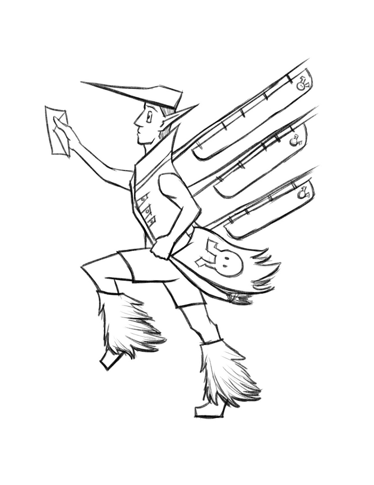Mailman Drawing At Getdrawings