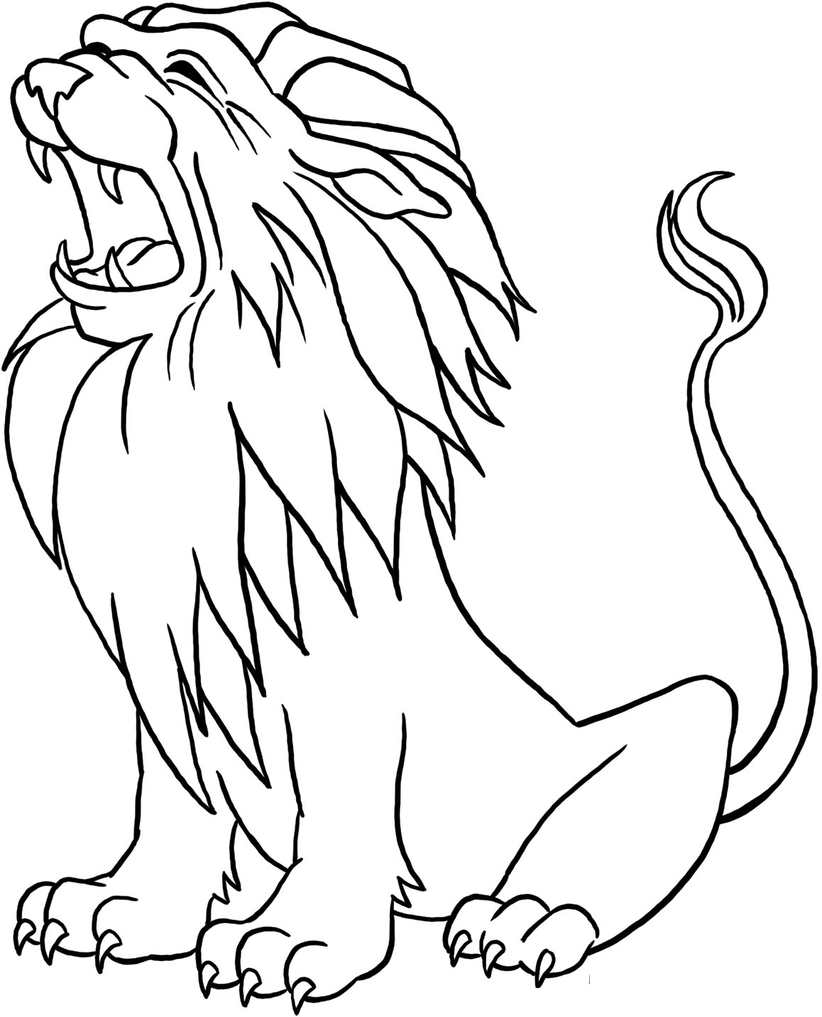 Male Lion Drawing At Getdrawings