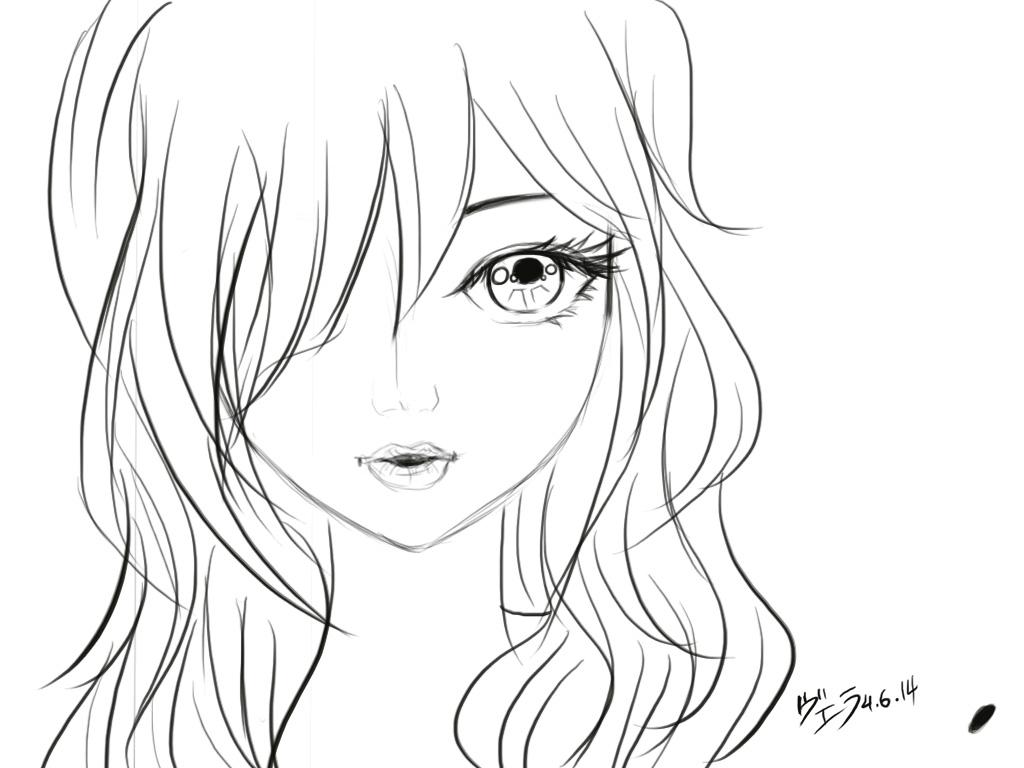 Manga Face Drawing At Getdrawings