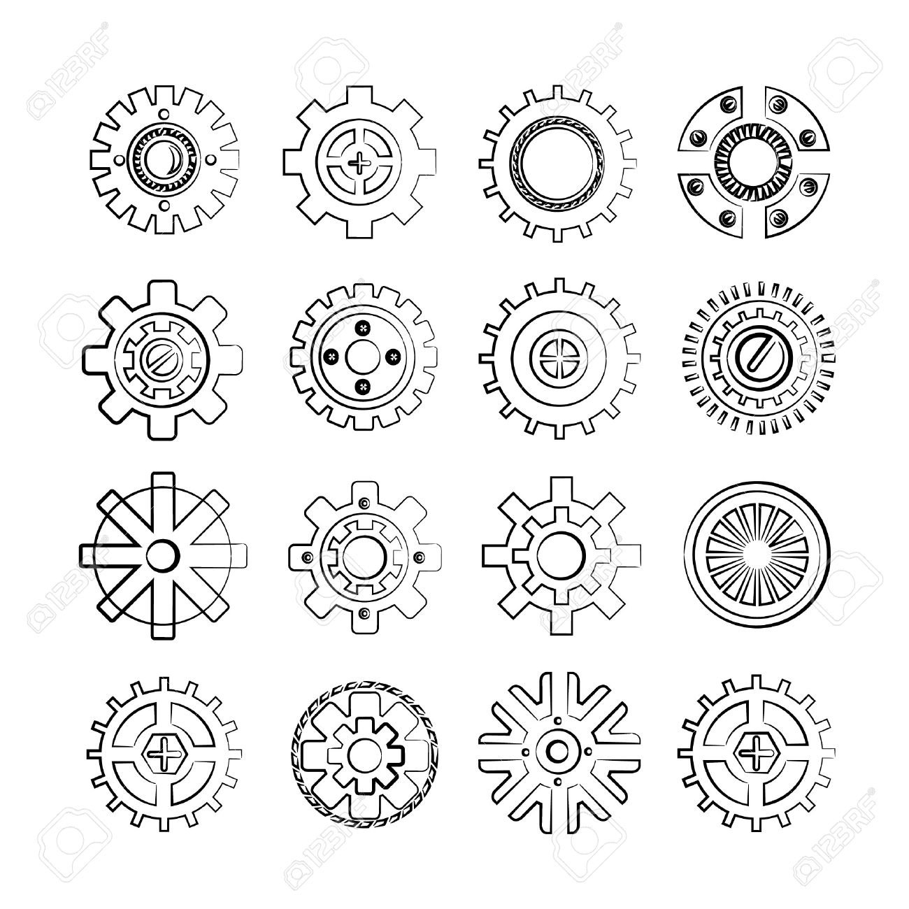 Mechanical Gears Drawing At Getdrawings