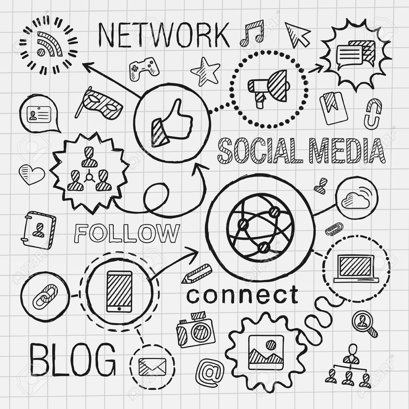 Social Media Drawing At Getdrawings