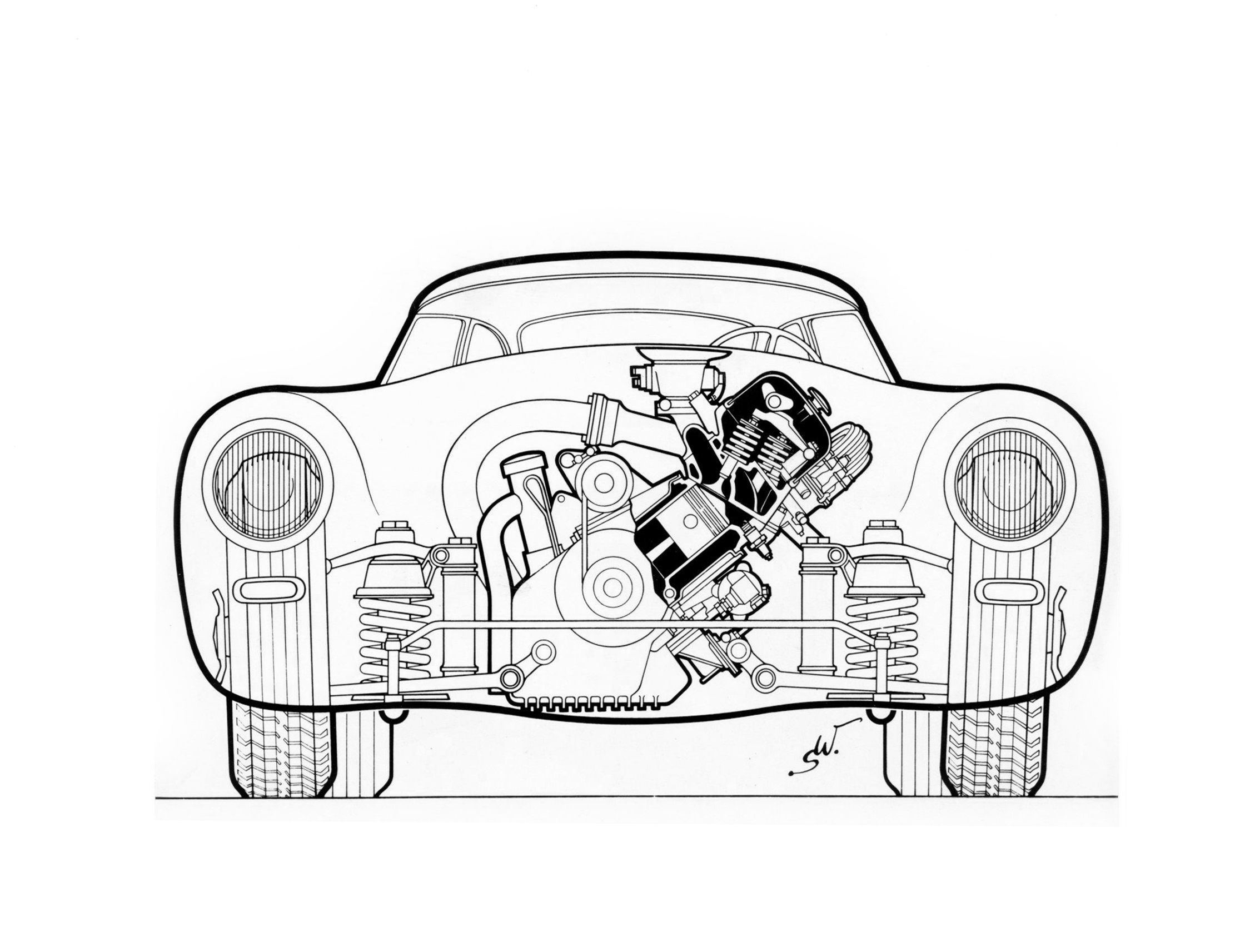 Mercedes benz drawing