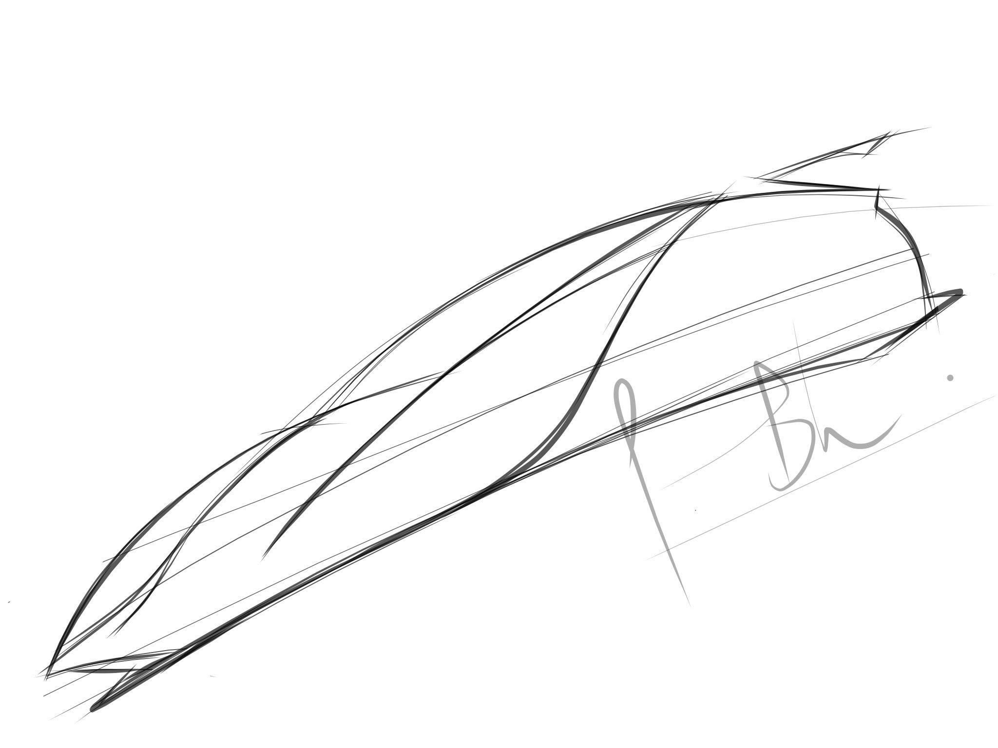 2048x1536 how to draw a mercedes benz concept car ipad part 1