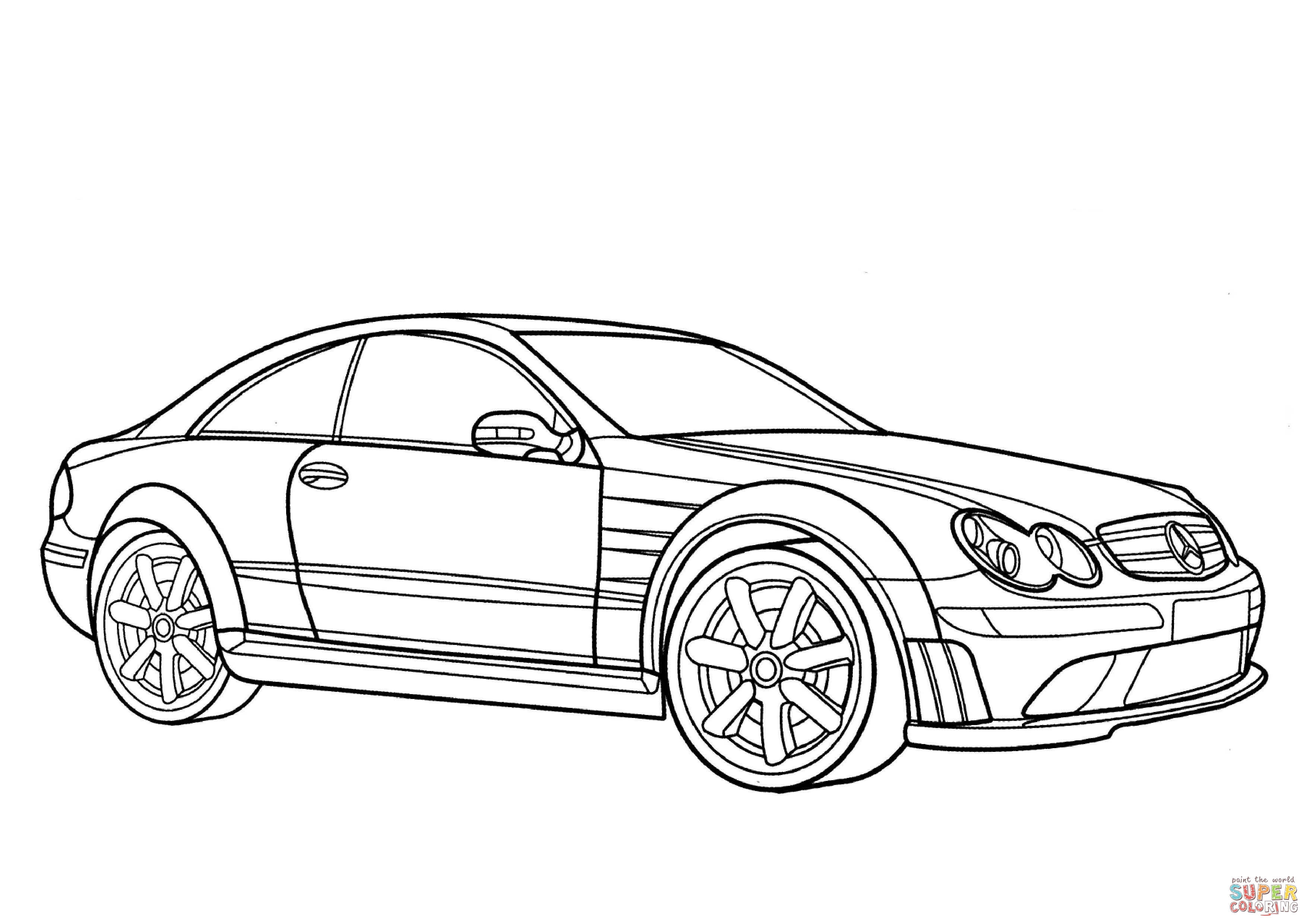3508x2480 mercedes clk class coloring page free printable coloring pages