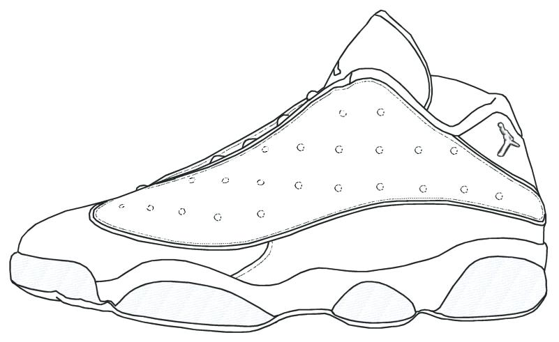 michael jordan shoes drawing at getdrawings  free download
