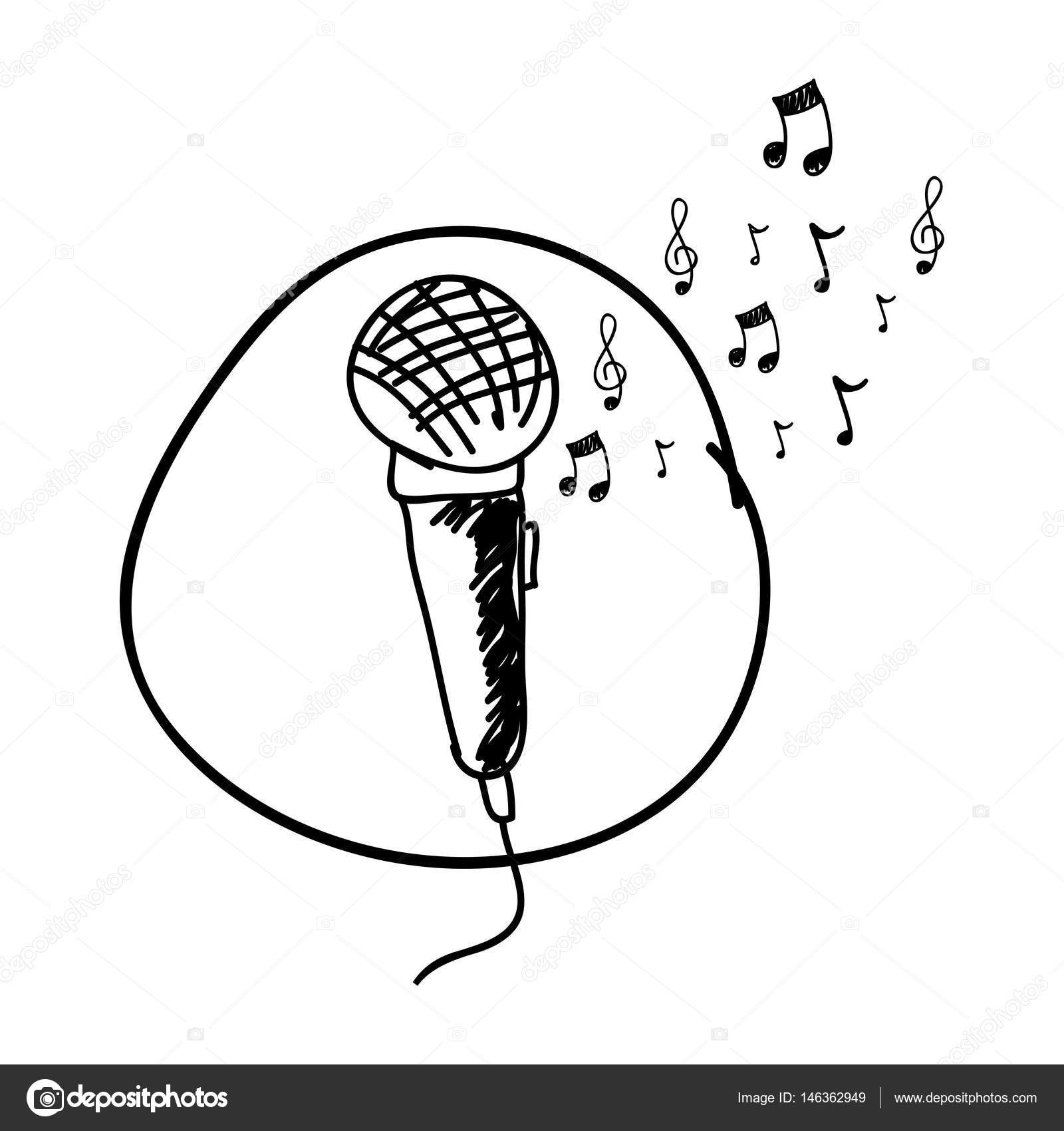 Microphone Line Drawing At Getdrawings