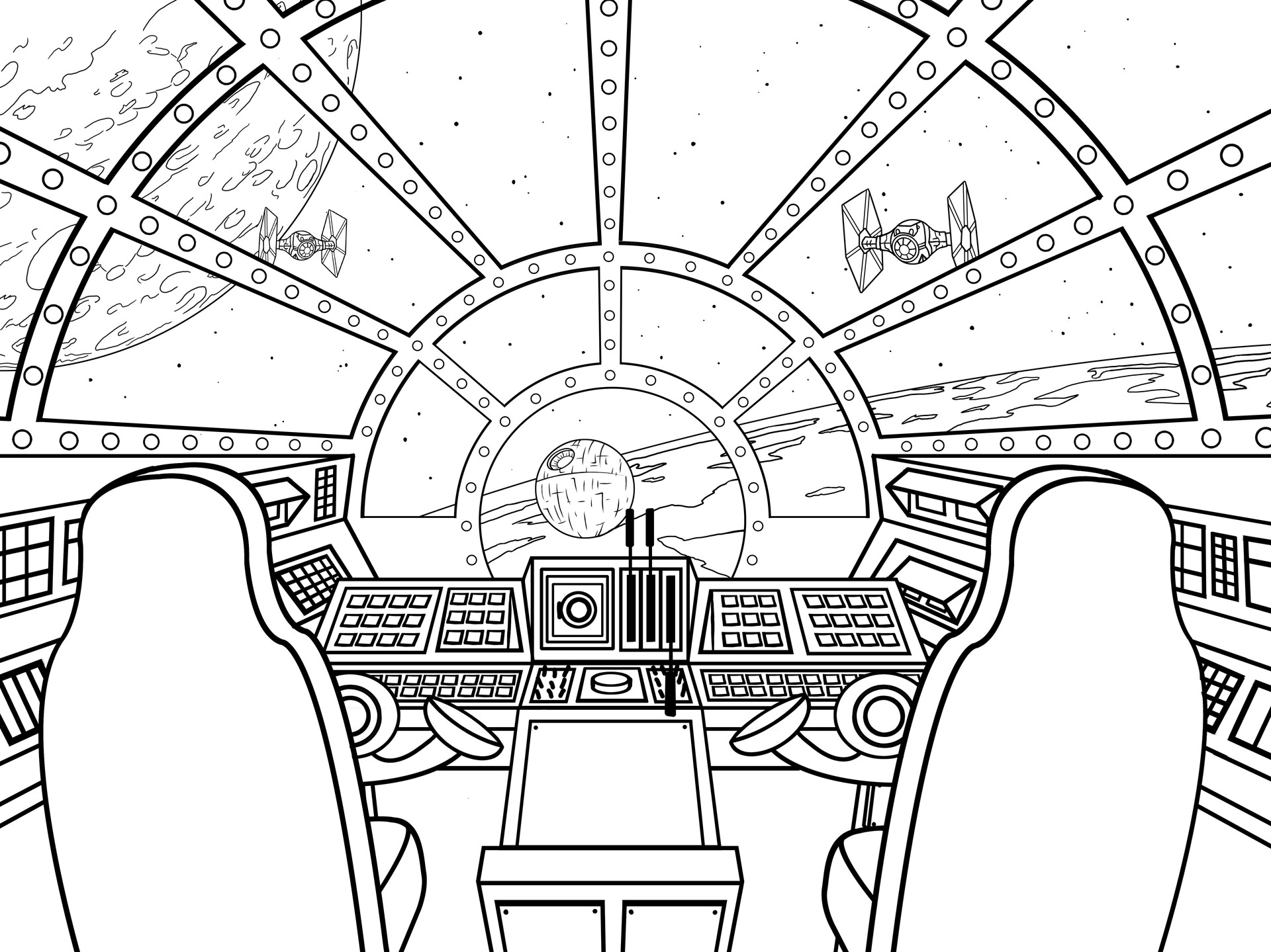 Millennium Falcon Technical Drawing At Getdrawings