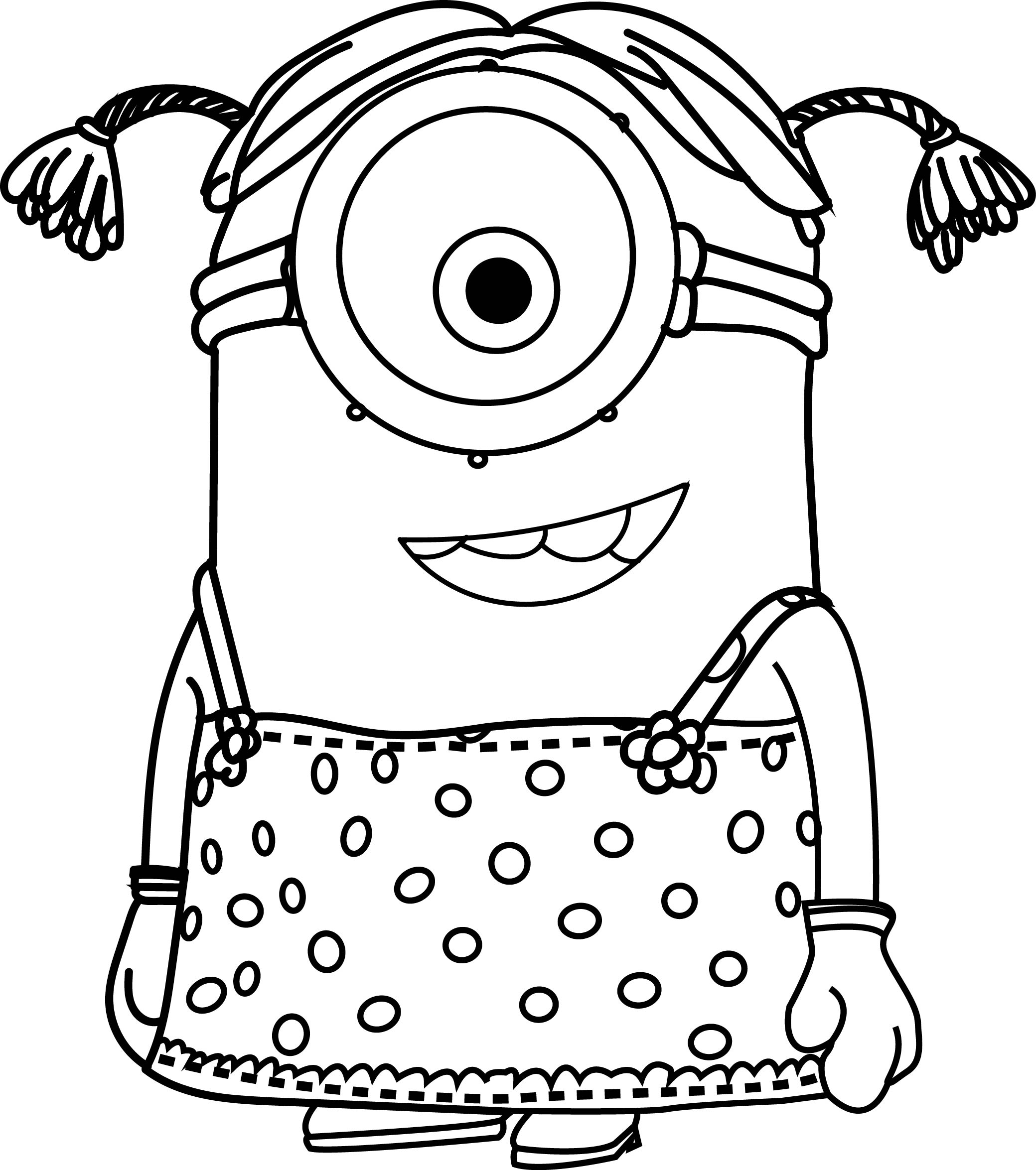 Minion Outline Drawing At Getdrawings