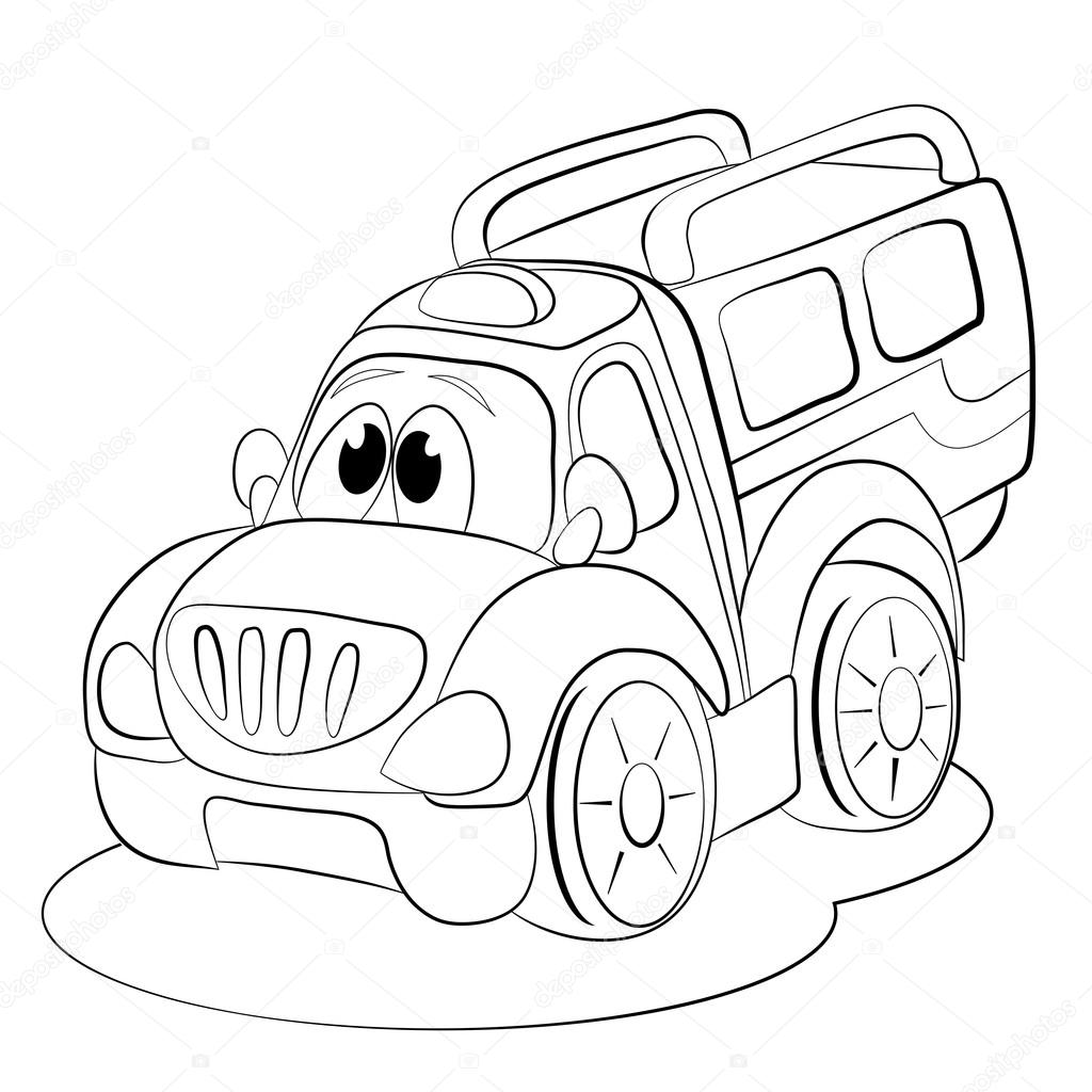1024x1024 cartoon funny car minivan stock vector © vitasunny