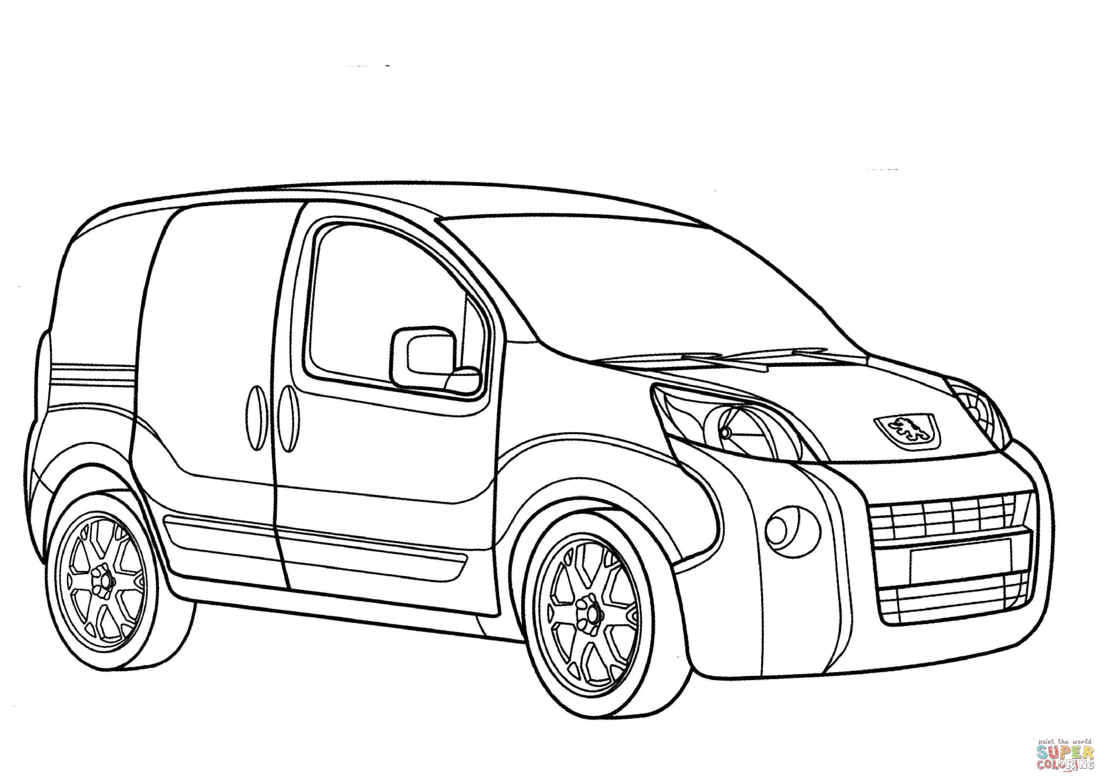 3508x2480 peugeot bipper coloring page free printable coloring pages
