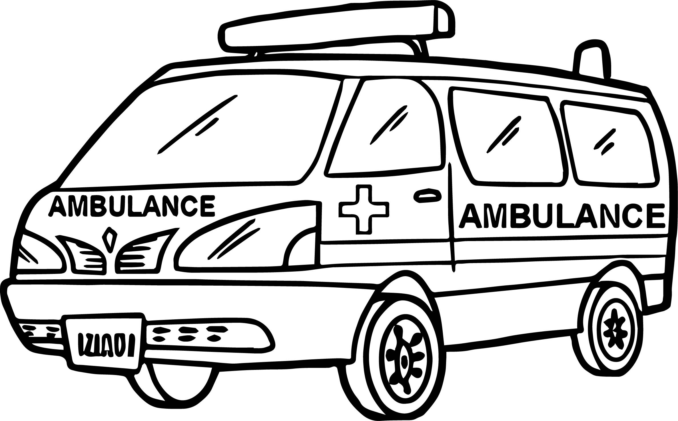 2374x1474 ambulance car transportation coloring pages for kids awesome