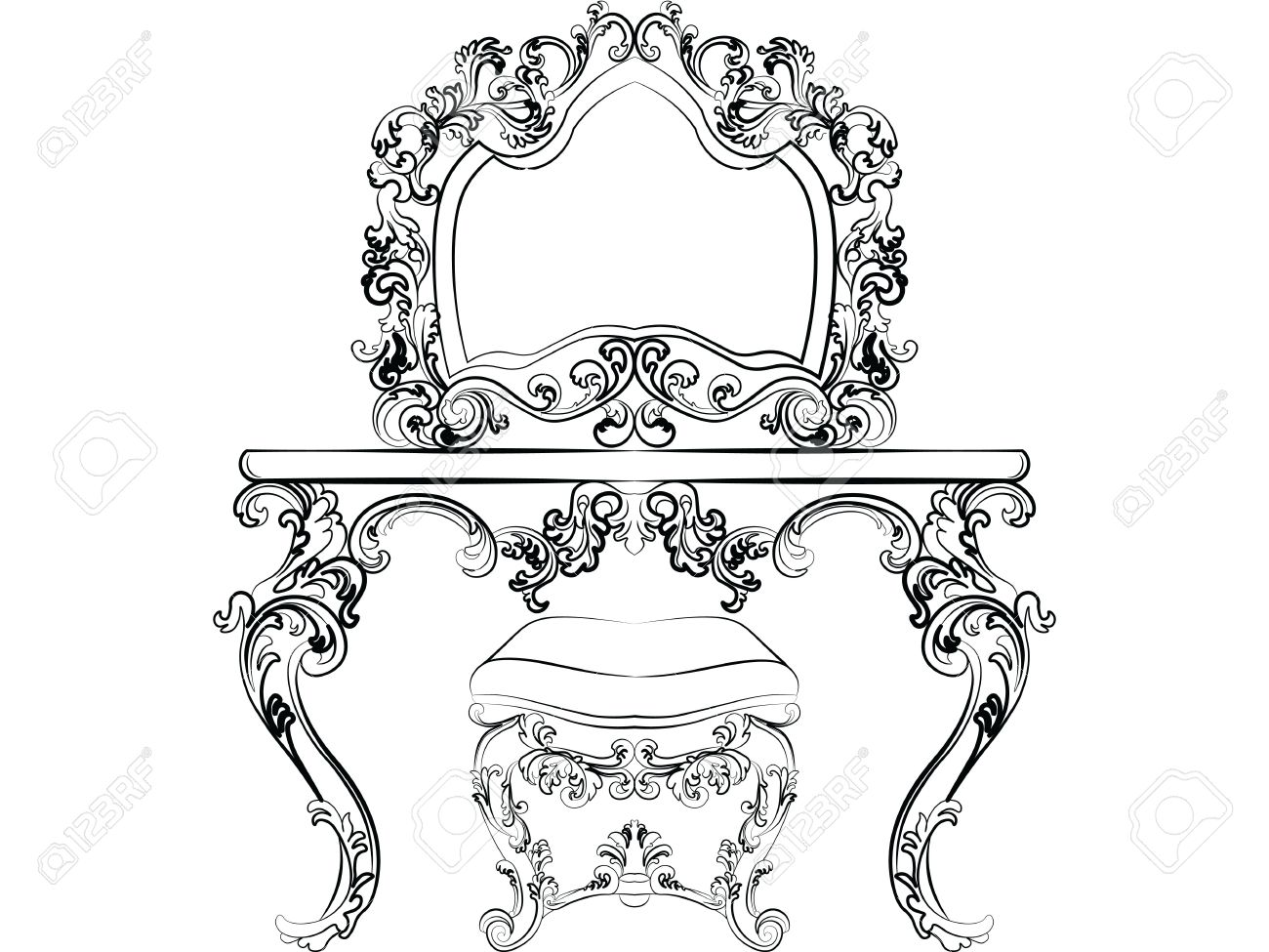 Mirror Frame Drawing At Getdrawings