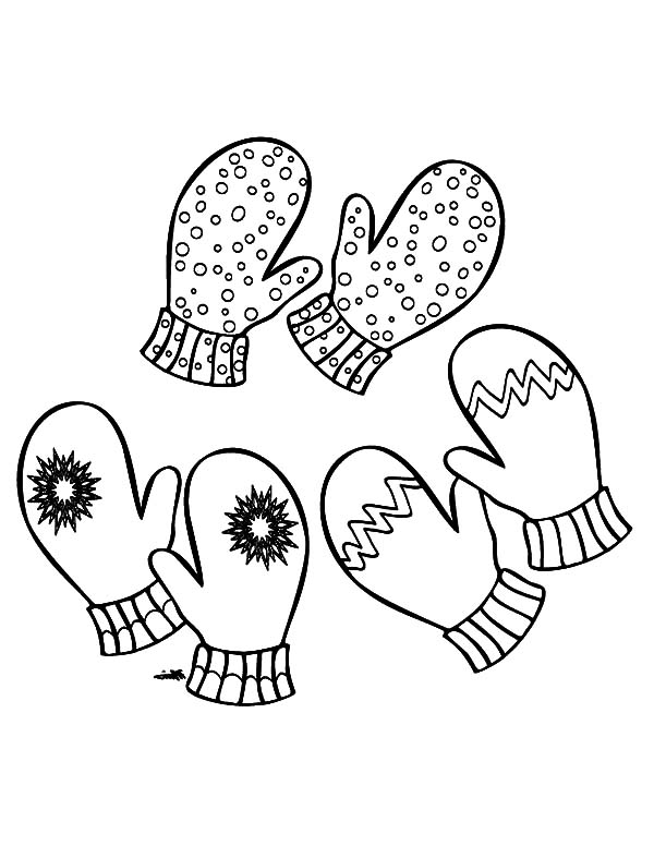 mittens drawing at getdrawings  free download